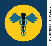 asclepius rod medical care icon ... | Shutterstock .eps vector #575021719