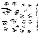 Female Woman Eyes And Brows...