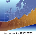 european finance and economy ... | Shutterstock .eps vector #575025775