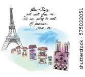 missing paris card | Shutterstock .eps vector #575032051