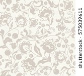 seamless l floral pattern in... | Shutterstock .eps vector #575039611
