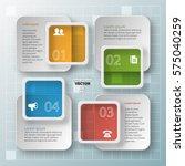 vector abstract 3d paper... | Shutterstock .eps vector #575040259