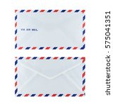 Small photo of new air mail envelope isolated over white background