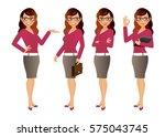 elegant people businesswoman | Shutterstock .eps vector #575043745