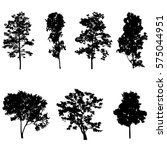 set of tree silhouette vector | Shutterstock .eps vector #575044951