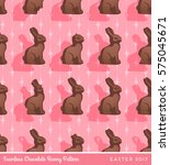 chocolate bunny seamless... | Shutterstock .eps vector #575045671