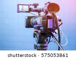 high definition cinema camera... | Shutterstock . vector #575053861