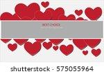 vector heart bakcground... | Shutterstock .eps vector #575055964