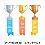 award cup menu infographic... | Shutterstock .eps vector #575059435