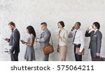 business people using device... | Shutterstock . vector #575064211