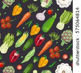 seamless pattern with colored... | Shutterstock .eps vector #575064814