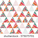 seamless watercolor geometric... | Shutterstock . vector #575075701