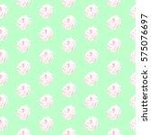 seamless pattern roses | Shutterstock .eps vector #575076697