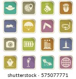travel icon set for web sites... | Shutterstock .eps vector #575077771