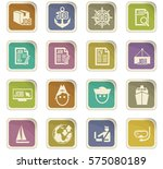 job icon set for web sites and... | Shutterstock .eps vector #575080189