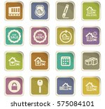real estate icons set for web... | Shutterstock .eps vector #575084101