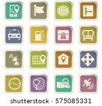 navigation icon set for web... | Shutterstock .eps vector #575085331