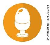 boiled egg pot food shadow | Shutterstock .eps vector #575086795