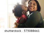 african descent family house...   Shutterstock . vector #575088661