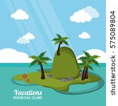 caribbean tropical vacations... | Shutterstock .eps vector #575089804