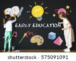 Small photo of Kids Children Early Education Icons