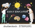 kids children early education... | Shutterstock . vector #575091091