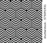 black and white pattern... | Shutterstock .eps vector #575091931