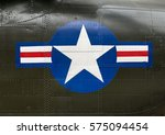 US Army roundel and stripe insignia on the side of a Vietnam war  Boeing CH-47 Chinook helicopter