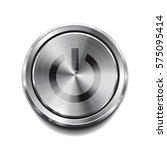 realistic metal circle button....