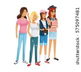 young people design   Shutterstock .eps vector #575097481