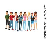 young people design | Shutterstock .eps vector #575097499