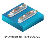 luxury cruise ship. a modern... | Shutterstock .eps vector #575100727