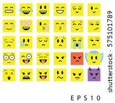 abstract emoji emoticon icon set   Shutterstock .eps vector #575101789