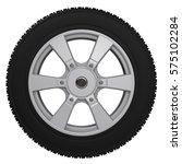 3d rendering black tire with... | Shutterstock . vector #575102284