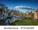york wall and minster | Shutterstock . vector #575106589