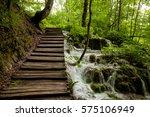 plitvice lakes park in croatia | Shutterstock . vector #575106949