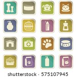 goods for pets icon set for web ... | Shutterstock .eps vector #575107945