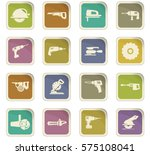 power tools icon set for web... | Shutterstock .eps vector #575108041