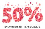 50 percent valentines day... | Shutterstock .eps vector #575108371