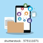 smartphone device icon | Shutterstock .eps vector #575111071