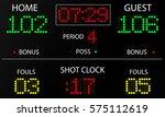 sports electronic scoreboard.... | Shutterstock .eps vector #575112619