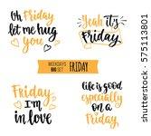 modern calligraphy style... | Shutterstock .eps vector #575113801