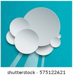 cutted paper cloud in the sky.... | Shutterstock .eps vector #575122621