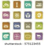 car shop icon set for web sites ... | Shutterstock .eps vector #575123455