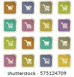 shopping bascket icon set for... | Shutterstock .eps vector #575124709