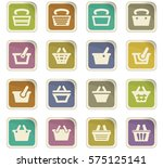 shopping bascket icon set for... | Shutterstock .eps vector #575125141