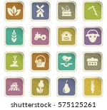 agricultural icons set for web... | Shutterstock .eps vector #575125261