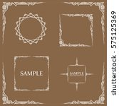 frames. decorative elements.... | Shutterstock .eps vector #575125369
