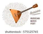 balalaika music show poster   Shutterstock .eps vector #575125765