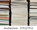 stack of book and paper in...